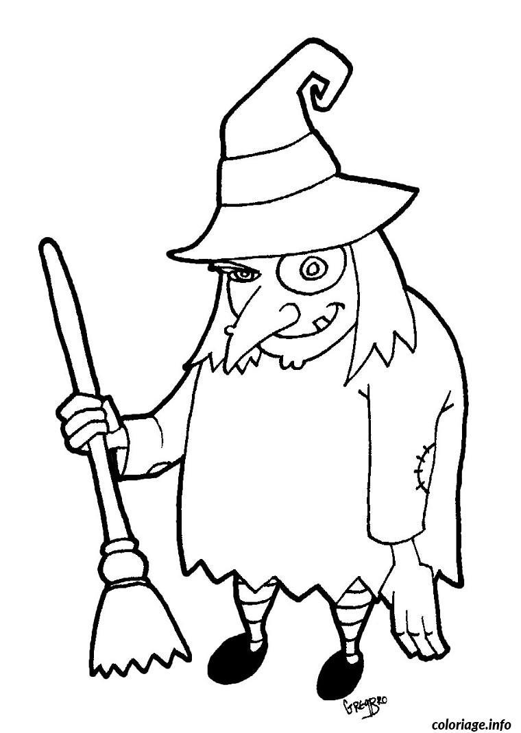 dessin de sorciere à imprimer coloriage 2015 11