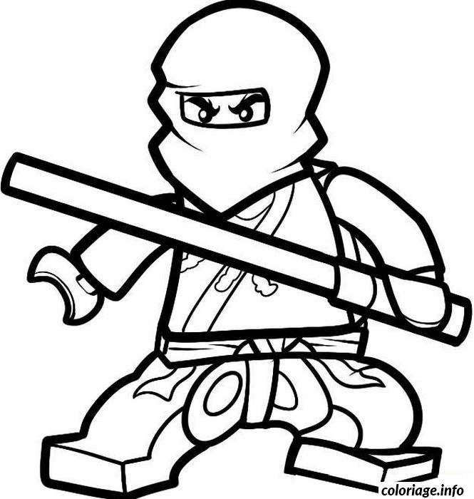 dessin ninjago cole ninja maitre de la terre coloriage gratuit à