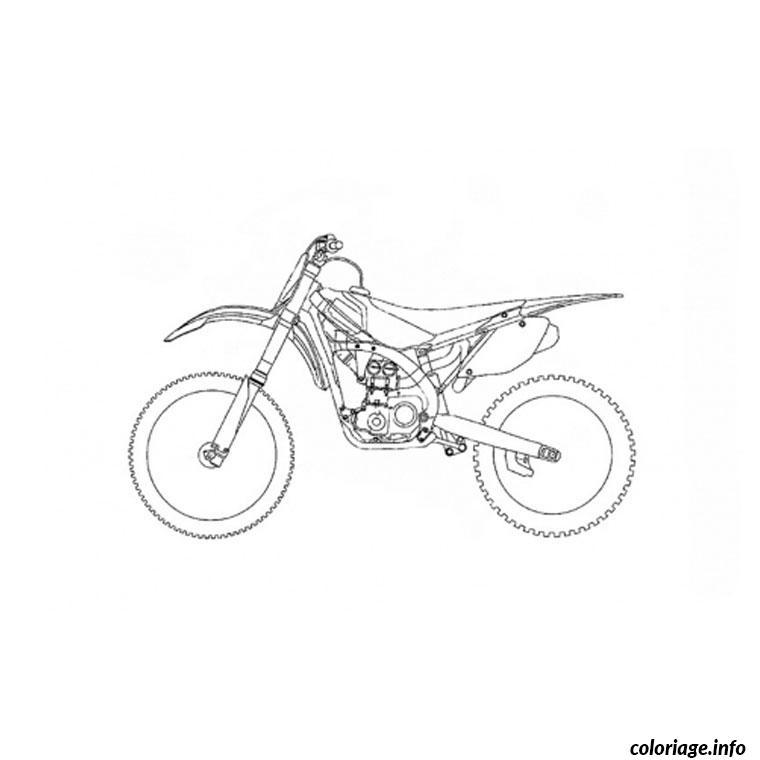 Coloriage Moto Trial Dessin Moto A Imprimer