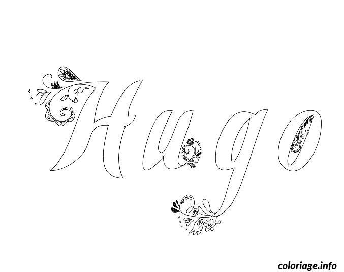Coloriage Hugo Dessin