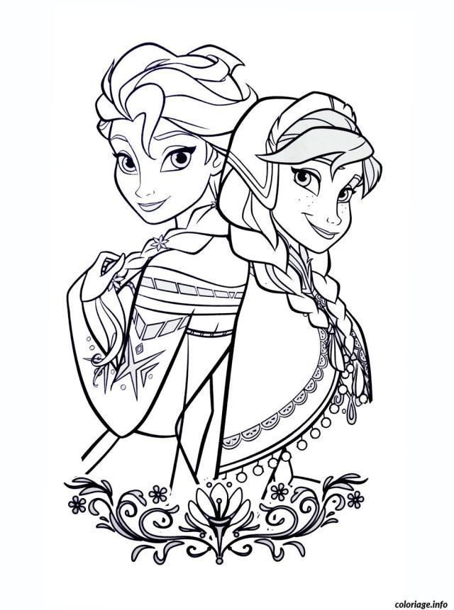 Coloriage Dessin La Reine Des Neiges Disney Princesse Dessin La