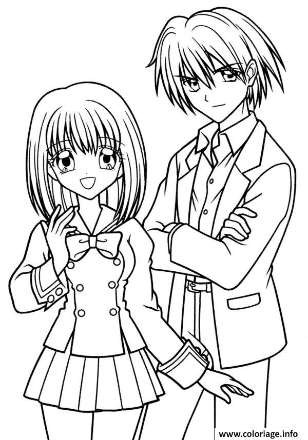 Coloriage Fille Manga 49 Dessin
