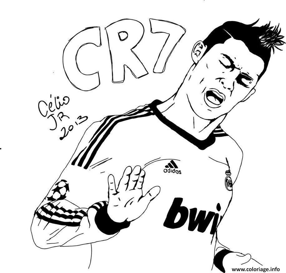 dessin cr7 cristiano ronaldo but oklm coloriage gratuit à imprimer