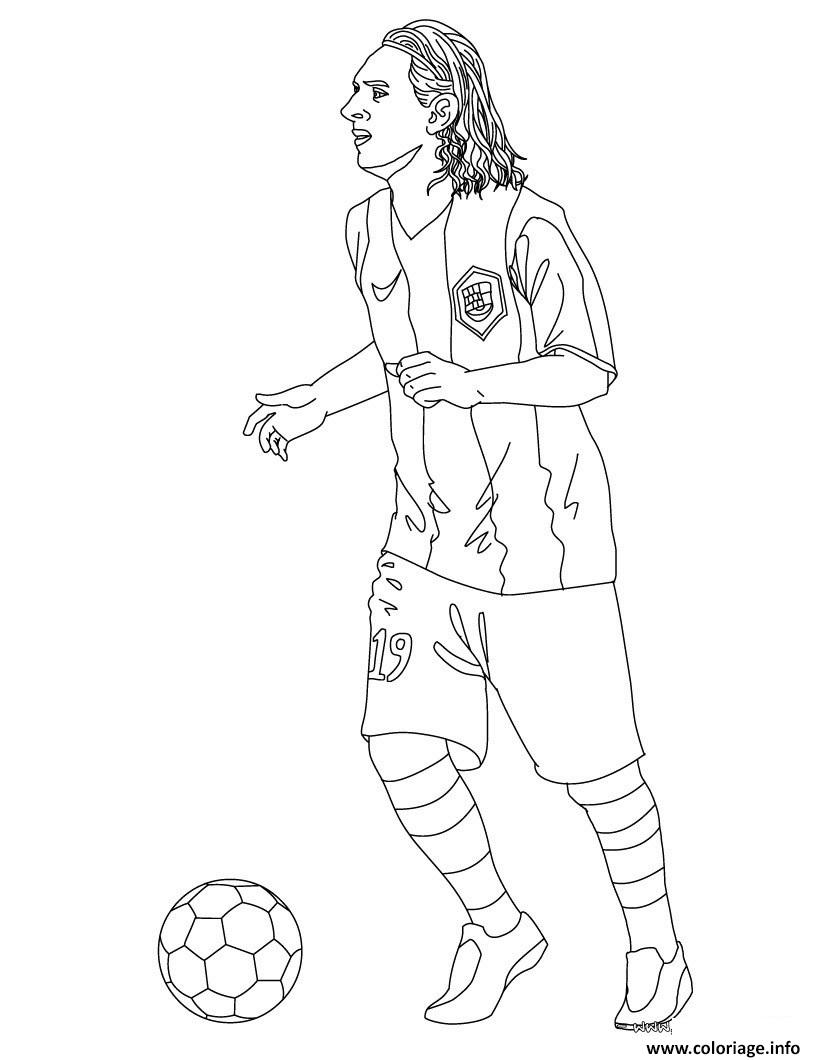 coloriage joueur football lionel messi barcelone dessin