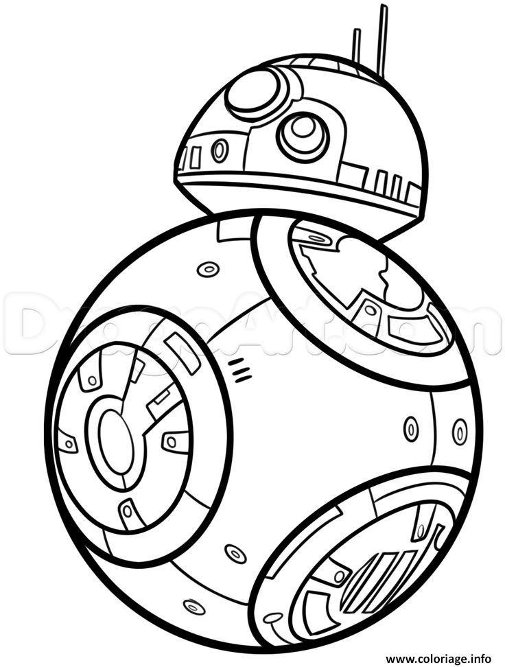 dessin bb8 de starwars coloriage gratuit à imprimer