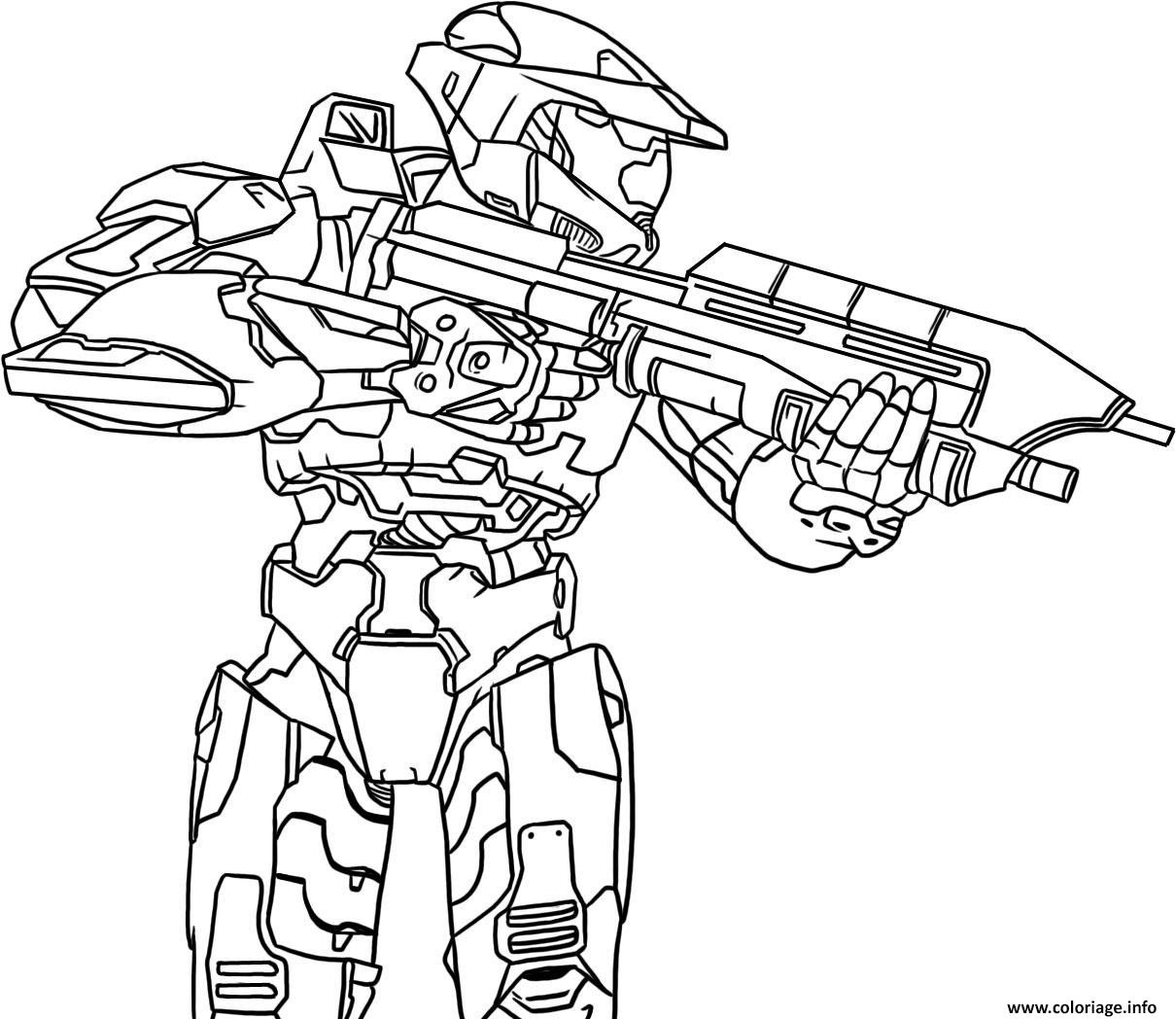Coloriage Halo Precision Dessin