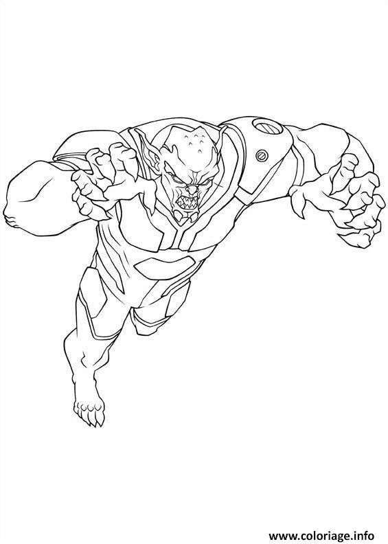 coloriage ultimate spiderman green goblin dessin