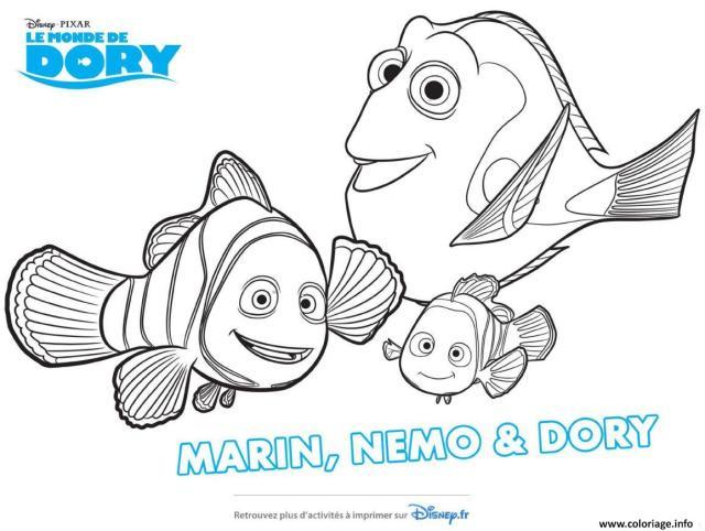Coloriage Nemo Dary Marlin Le Monde De Dory Dessin Le Monde De