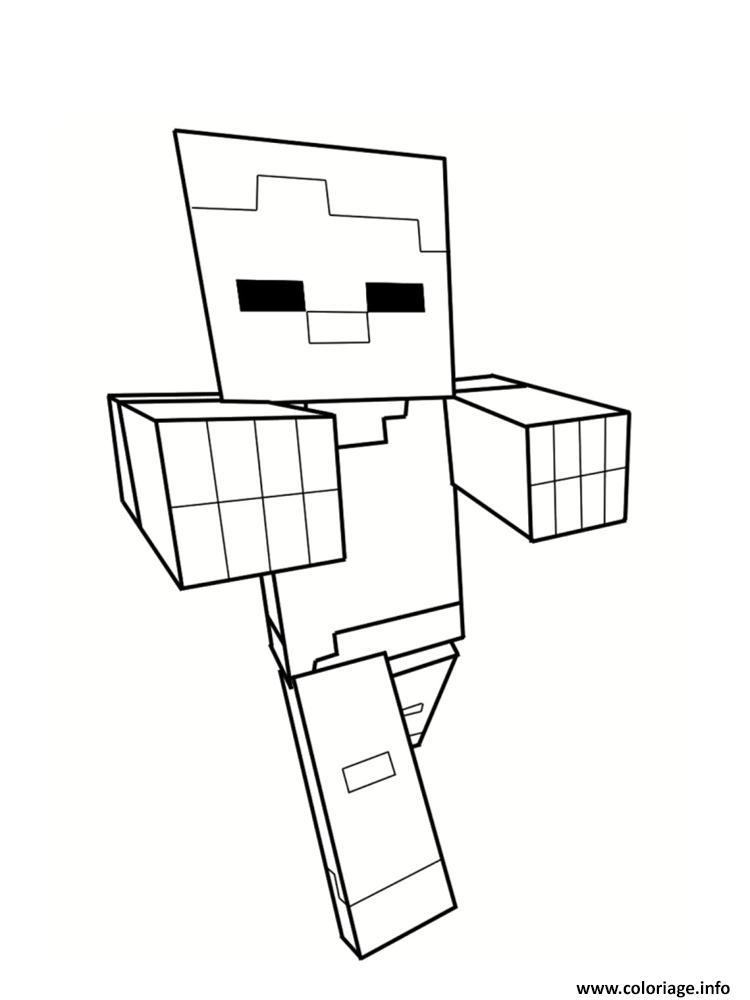 Coloriage Minecraft En Ligne Dessin Minecraft A Imprimer