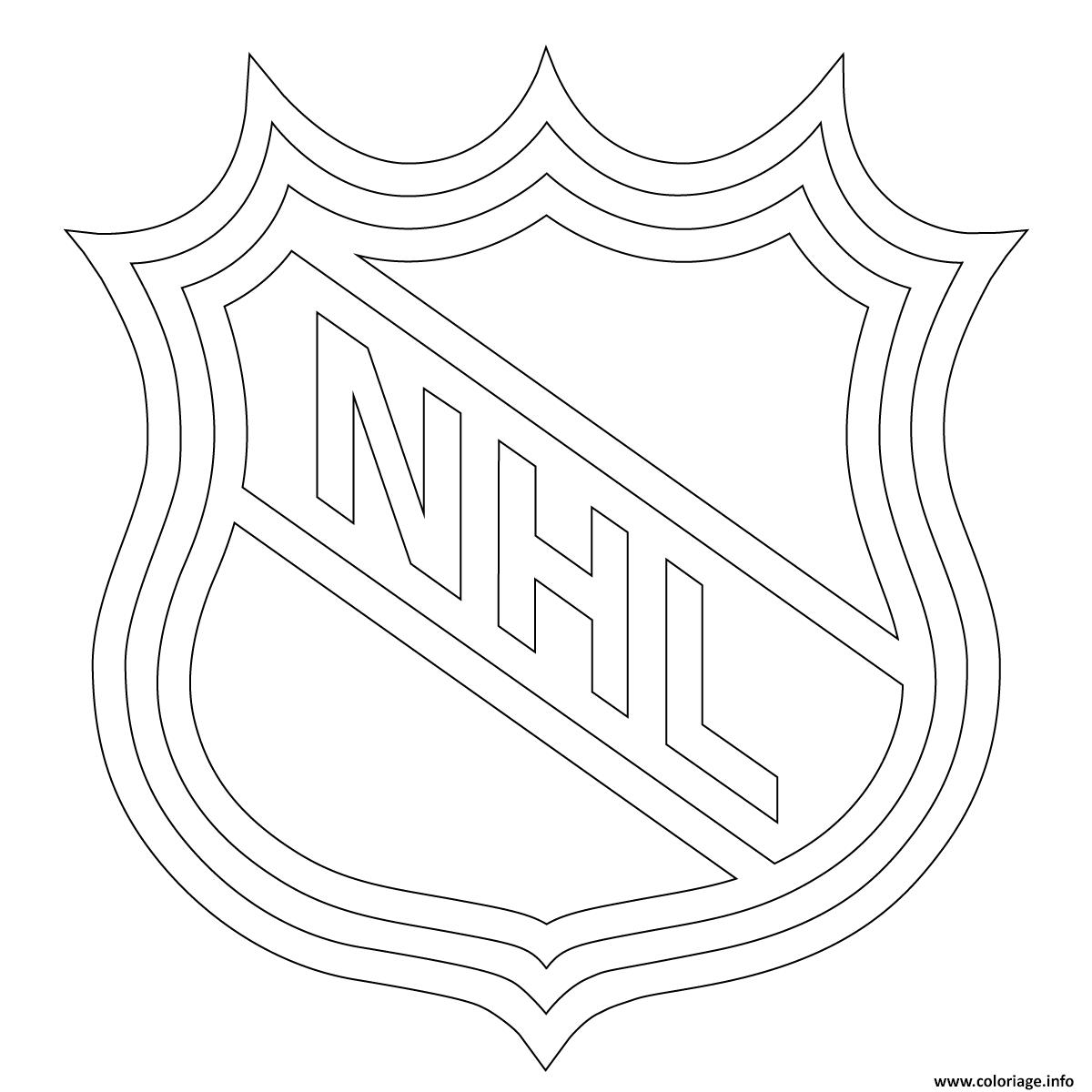 Coloriage Lnh Nhl Logo Lnh Nhl Hockey Sport Dessin