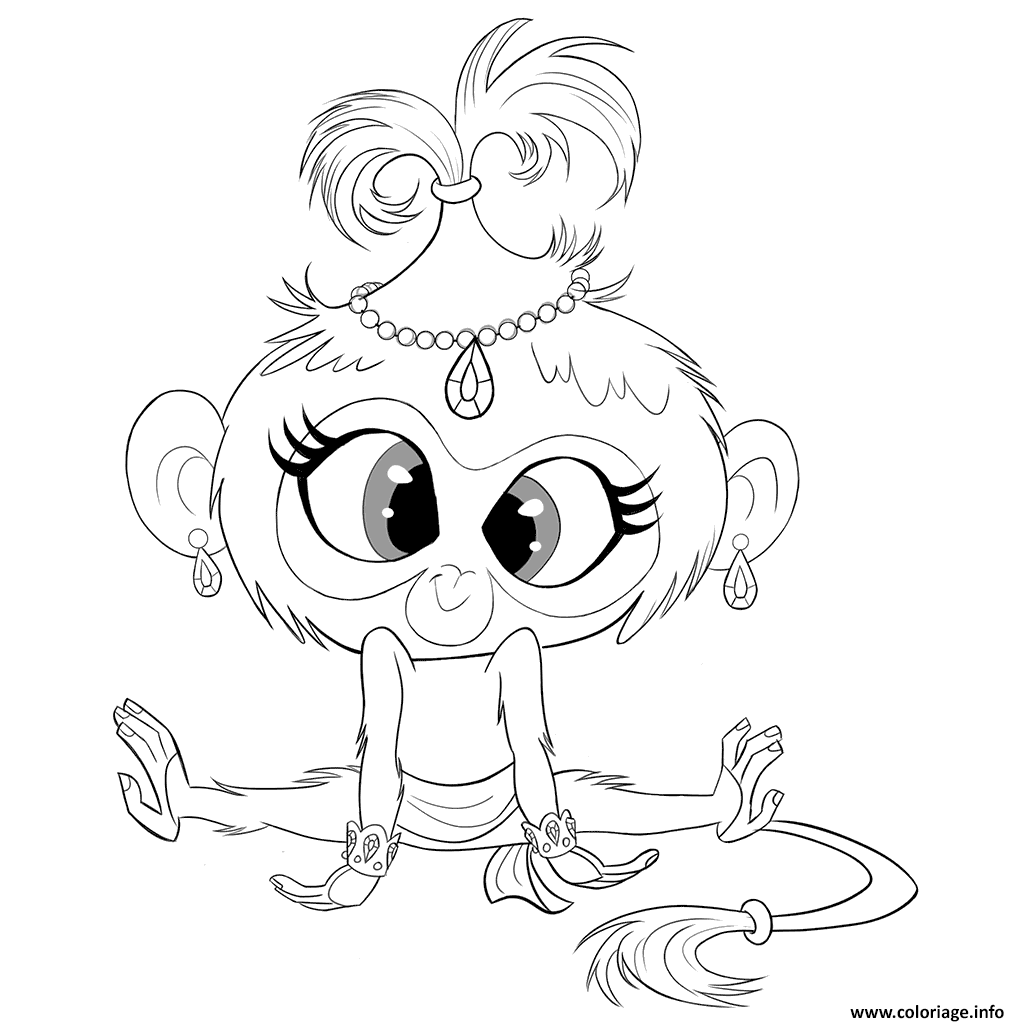 Coloriage Monkey Tala From Shimmer Et Shine