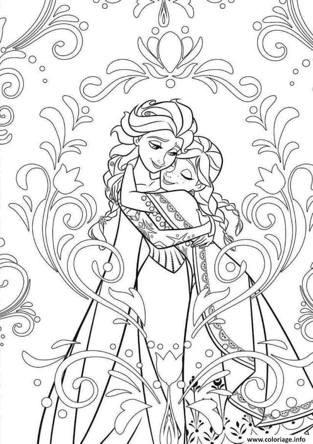 Coloriage Mandala Disney Frozen Elsa Anna Princess Dessin Mandala