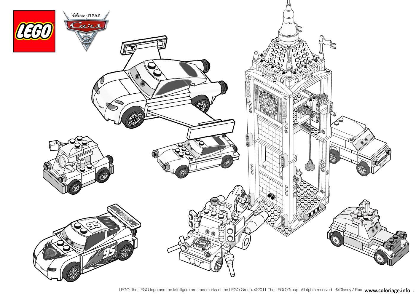 Coloriage Lego Cars 3 Movie