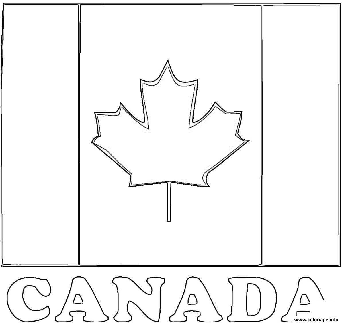 Coloriage Fete Nationale D Au Du Canada Flag
