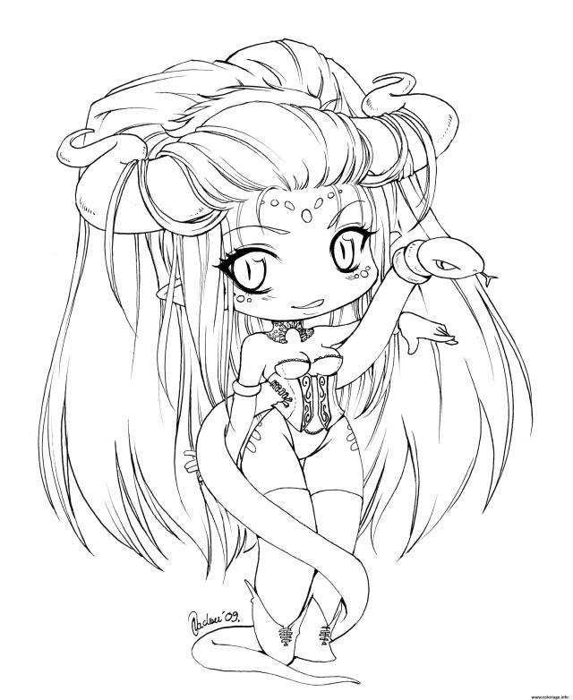 Coloriage Manga Kawaii Fille Fairy Dessin Manga à imprimer
