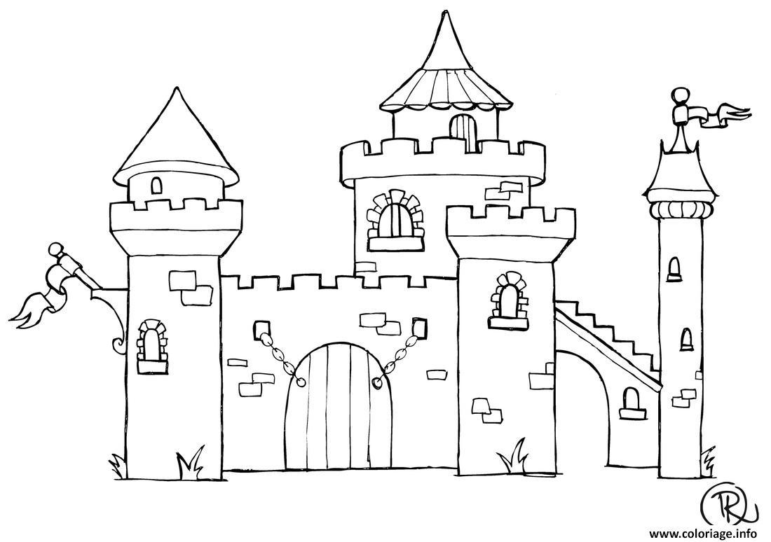 Coloriage Chateau Dessin Chateau A Imprimer