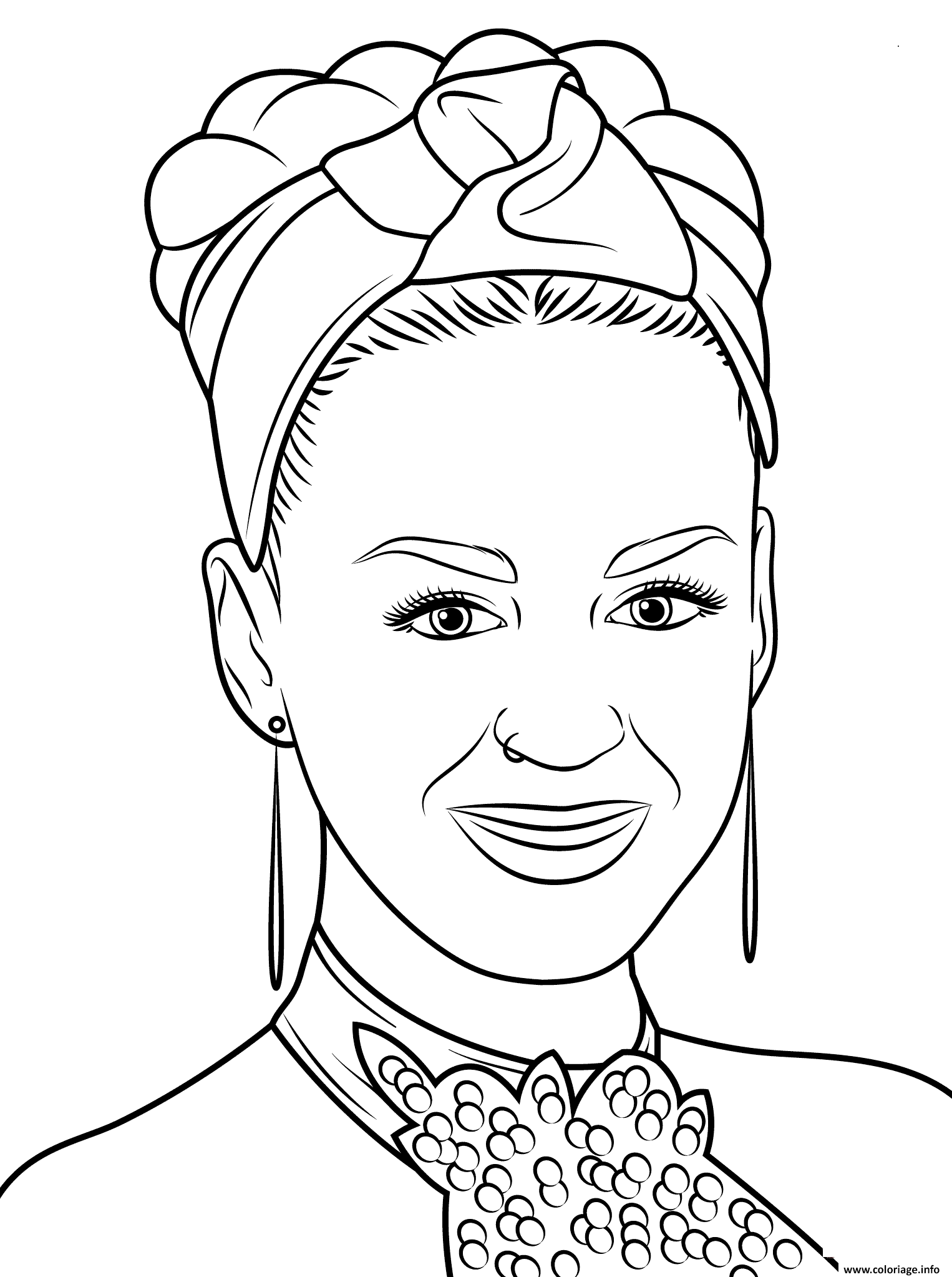 Coloriage Katy Perry Celebrite Star Dessin