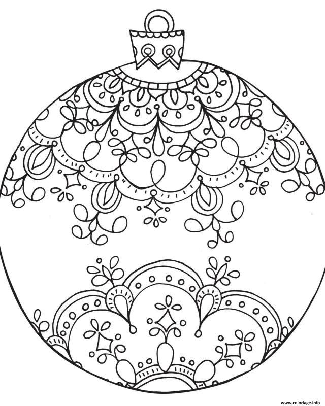 Coloriage Boule De Noel Adulte Noel Dessin Noel Adulte à imprimer