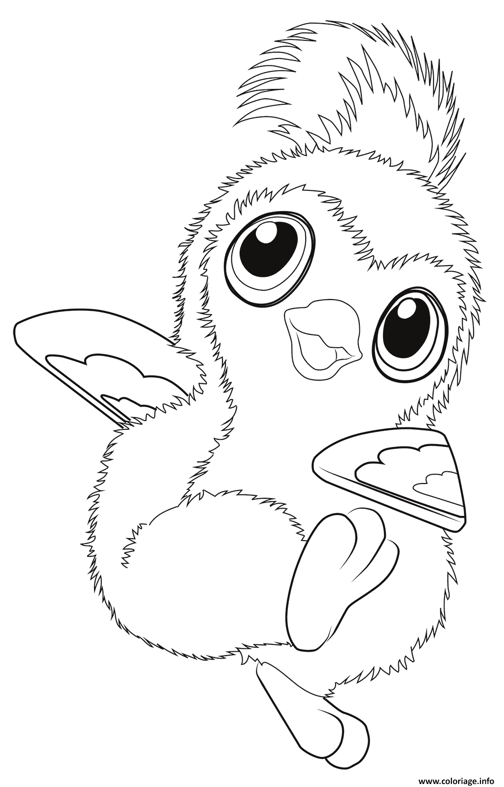 Coloriage Cute Pengualas From Hatchimals Dessin