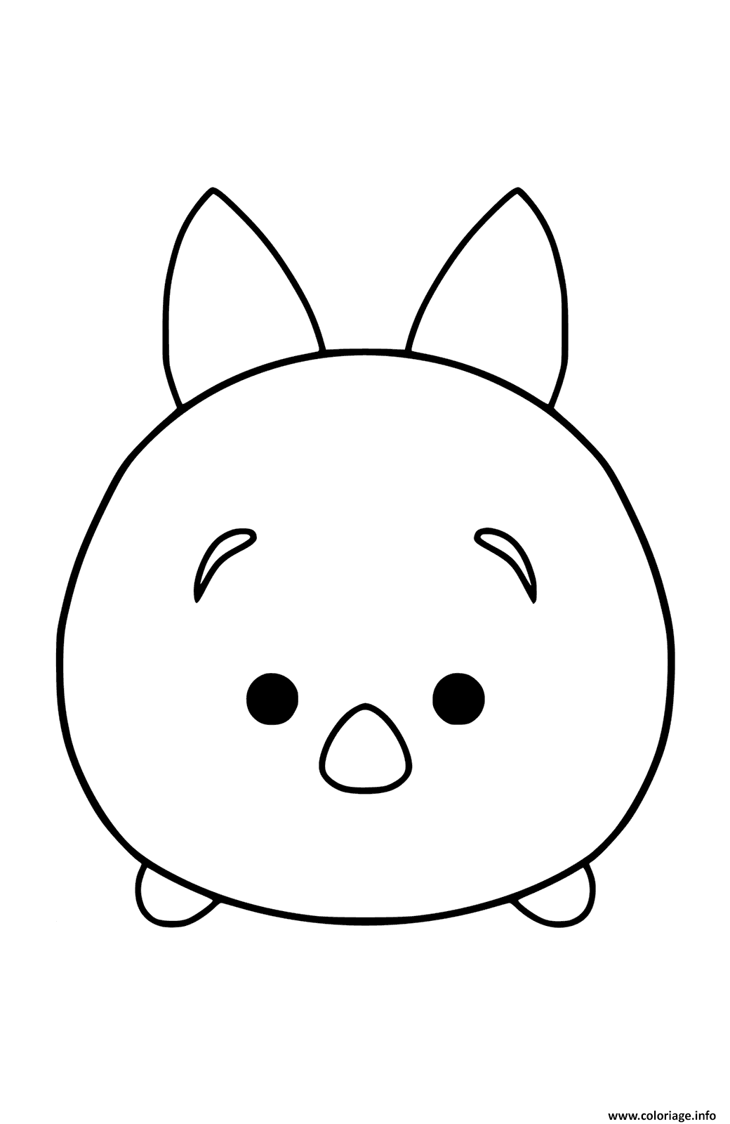 Coloriage Disney Tsum Tsum Plush Toy Piglet To Color Dessin