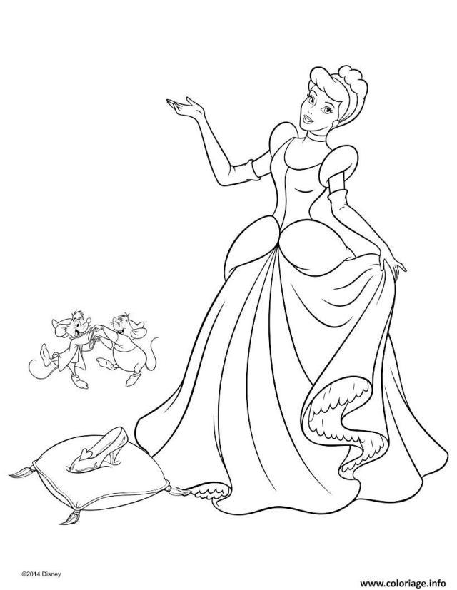 Coloriage Princesse Disney Cendrillon 15 Dessin Princesse Disney à