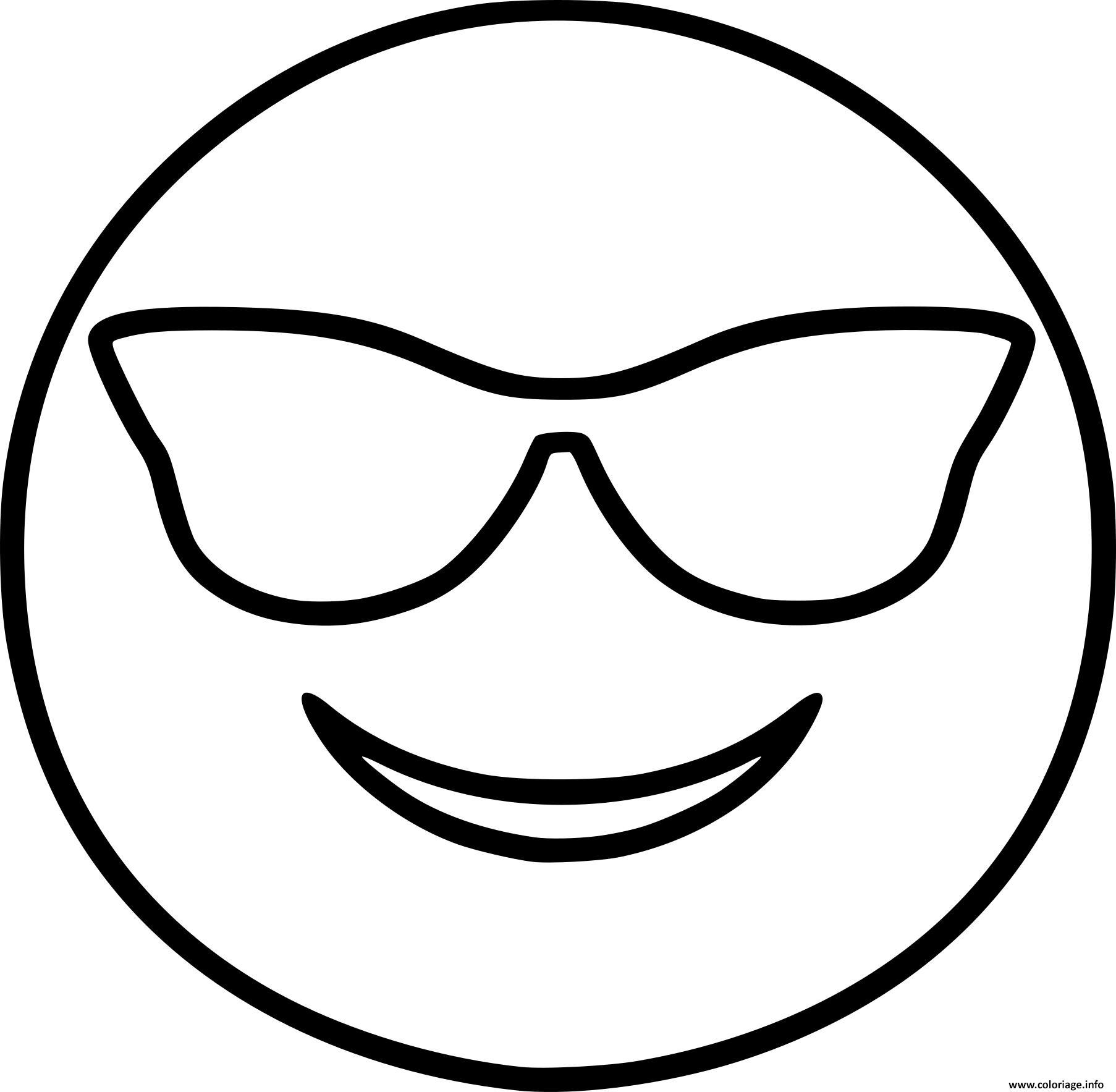 Coloriage Smiley Emoji Cool Dessin Smiley A Imprimer