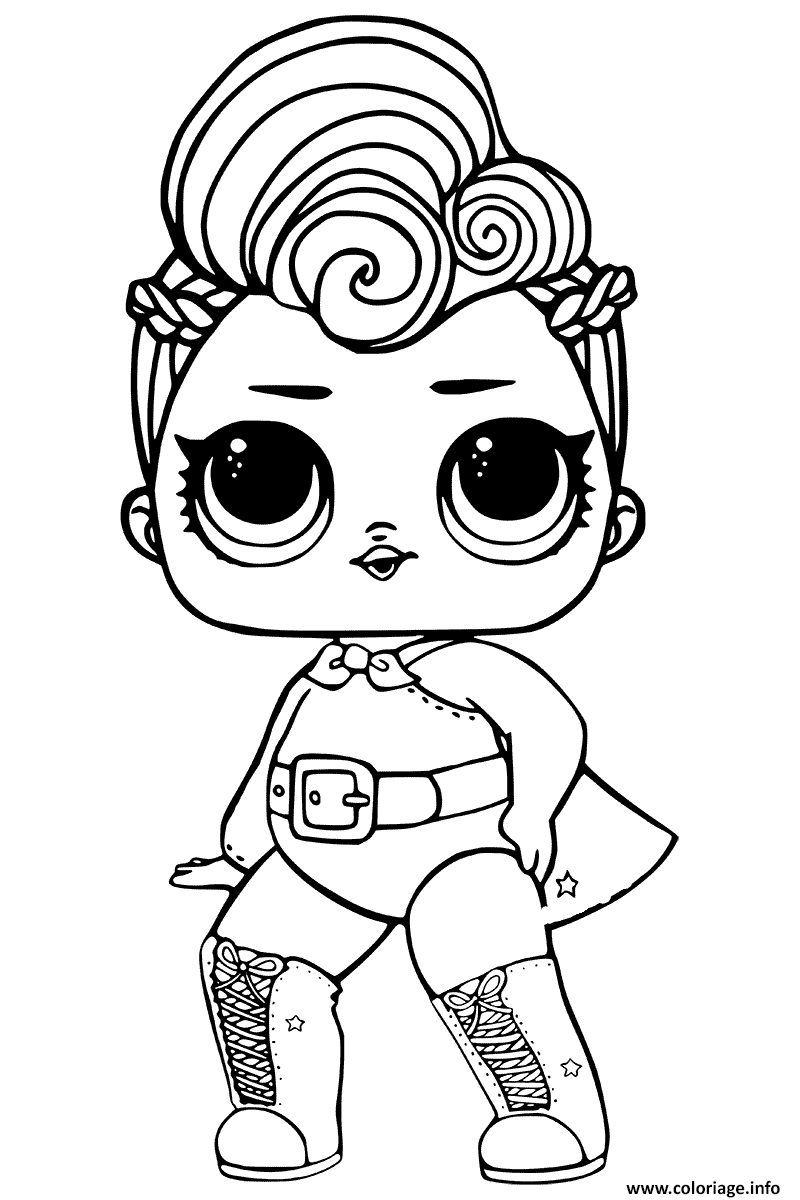 White unicorn lol doll coloring pages