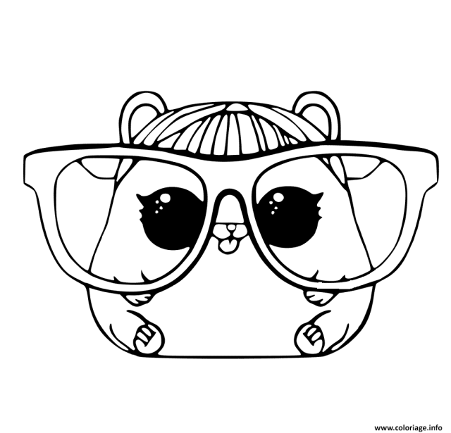 Coloriage LOL Pet Page Cherry Hamster Animaux Dessin Lol Surprise