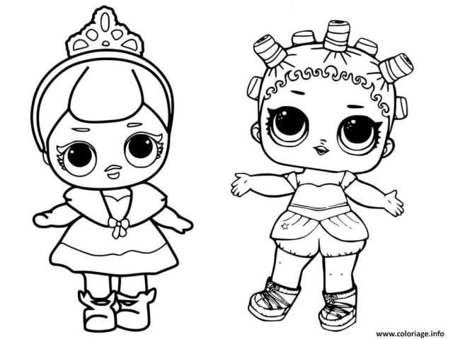Coloriage Lol Dolls Cute Baby Princess Dessin Lol Surprise à imprimer