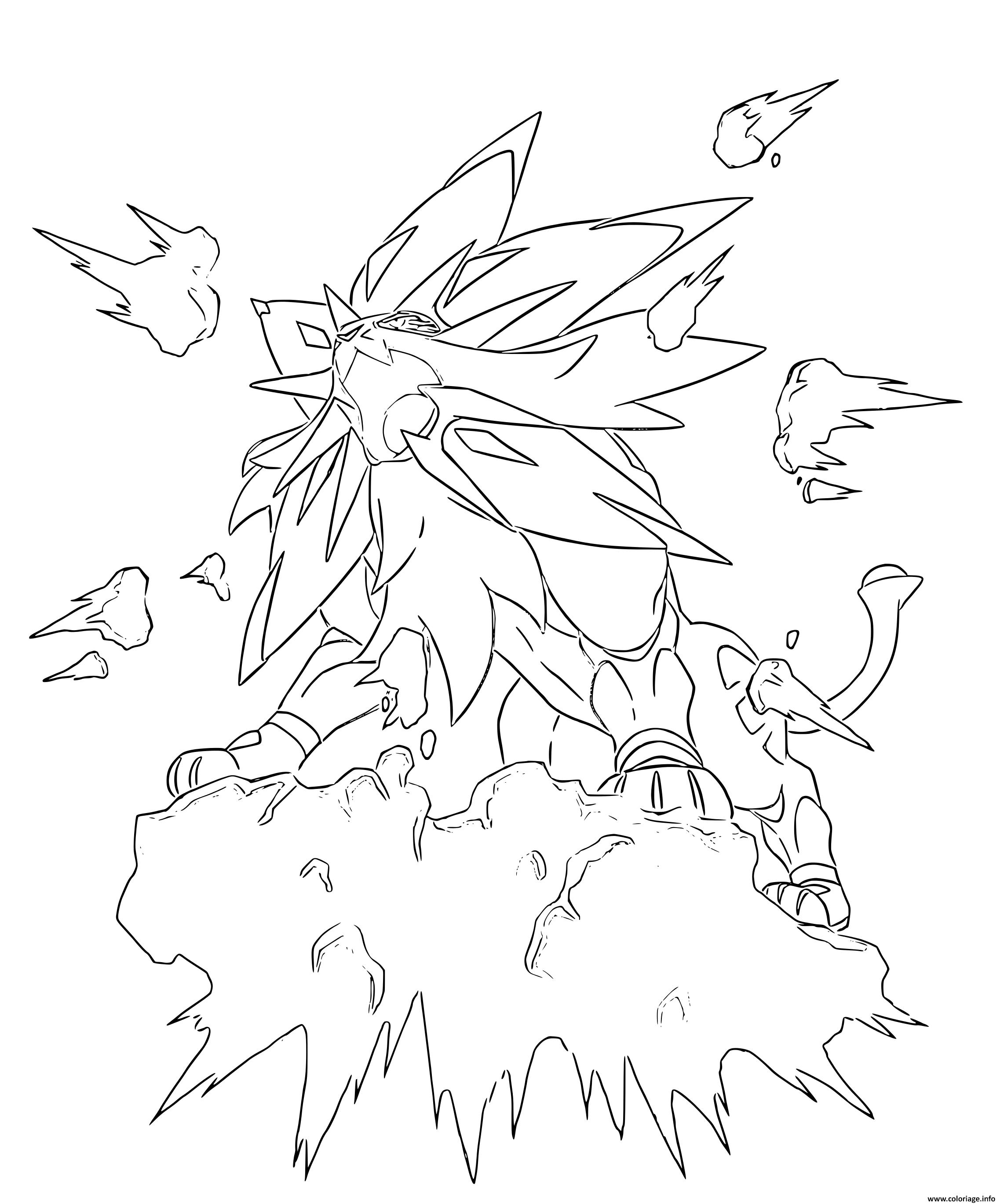 Coloriage Solgaleo Pokemon Legendaire Dessin