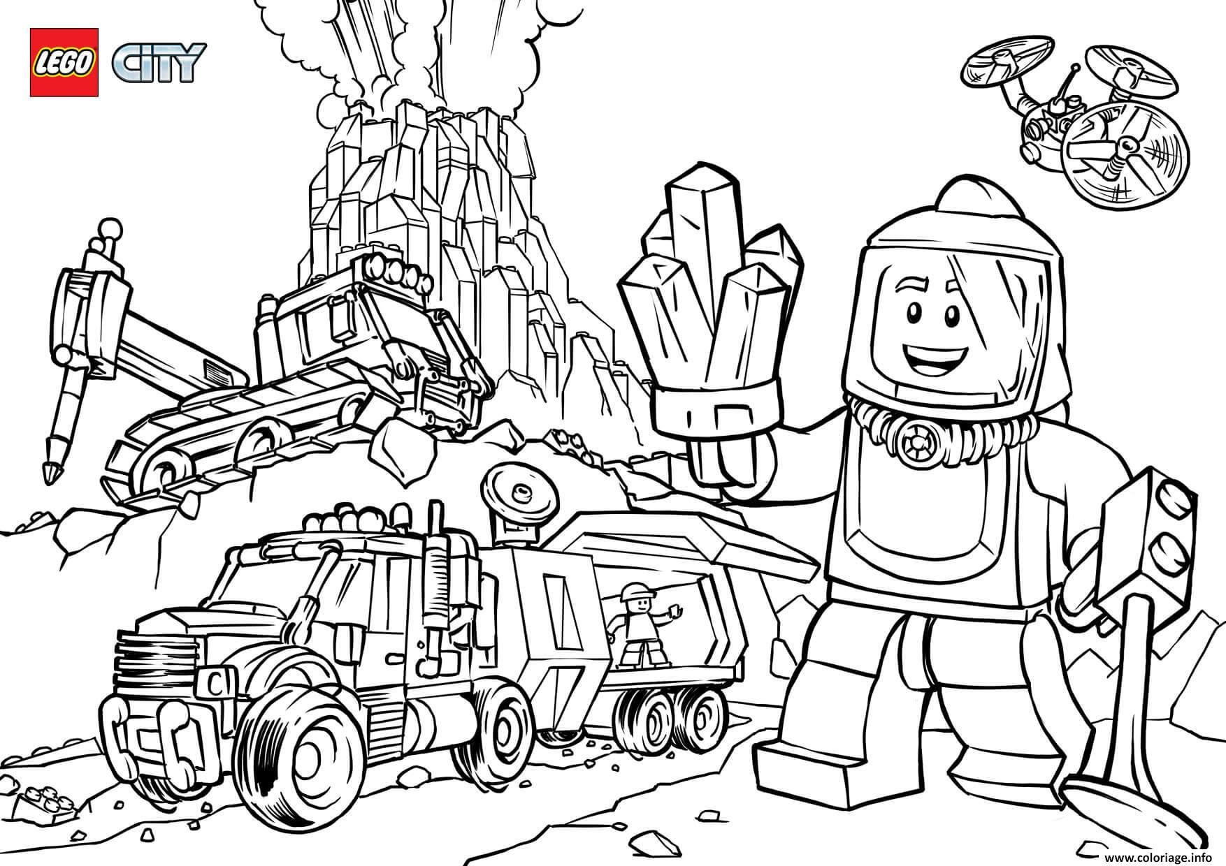 Coloriage Lego City Volcano Explorers Dessin Lego City A