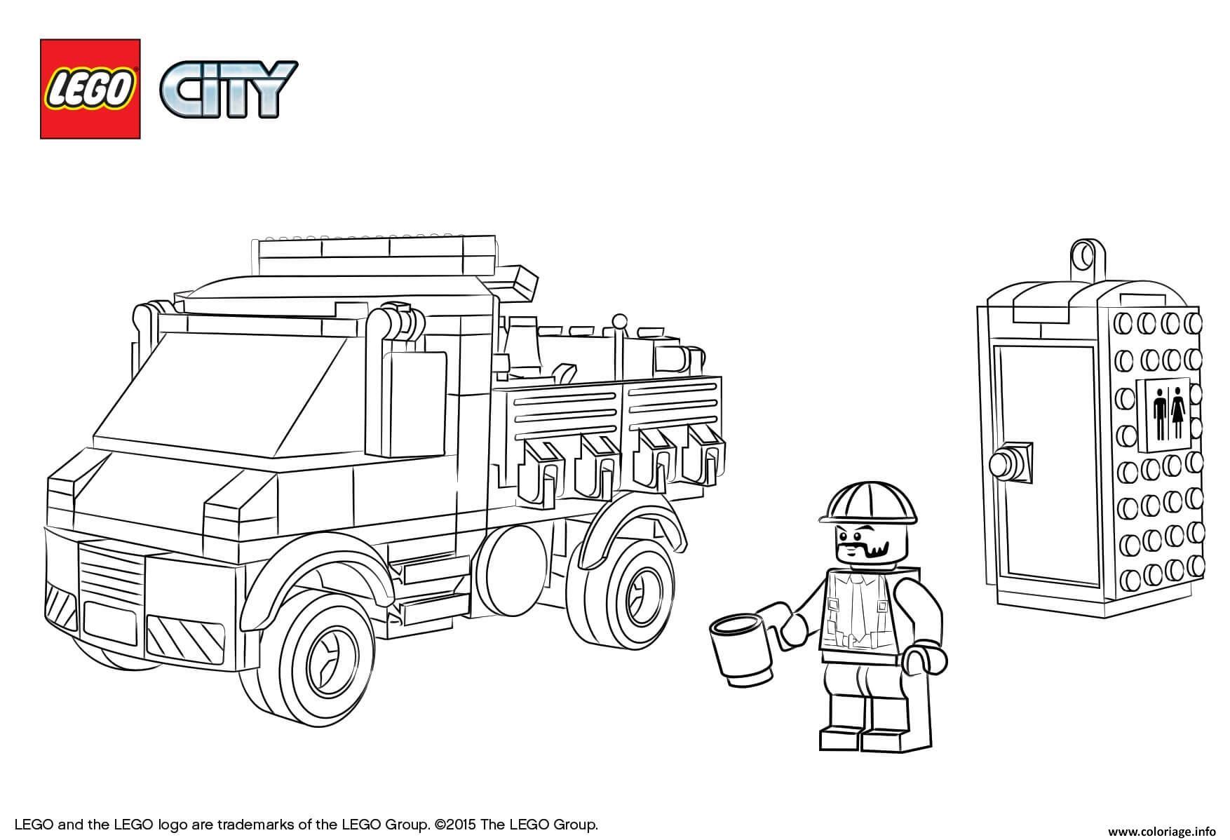 Coloriage Lego City Service Truck Dessin