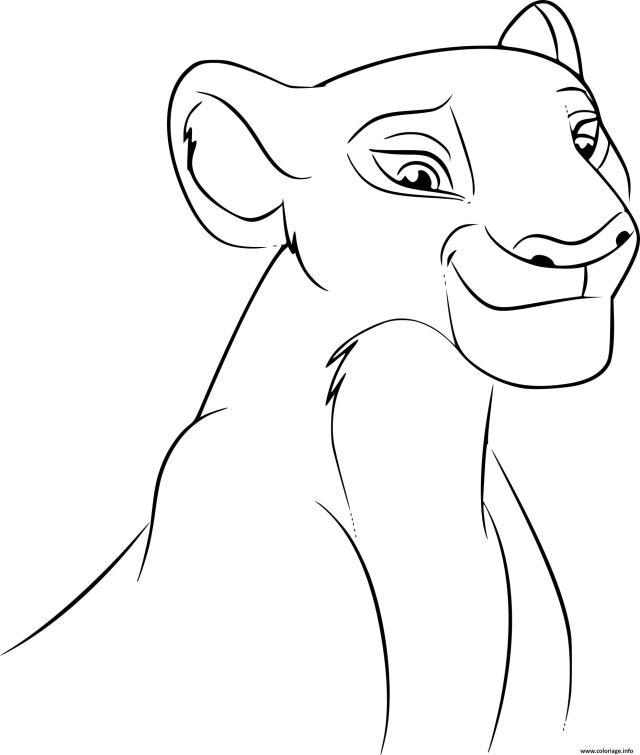 Coloriage Roi Lion Nala Disney Dessin Roi Lion à imprimer