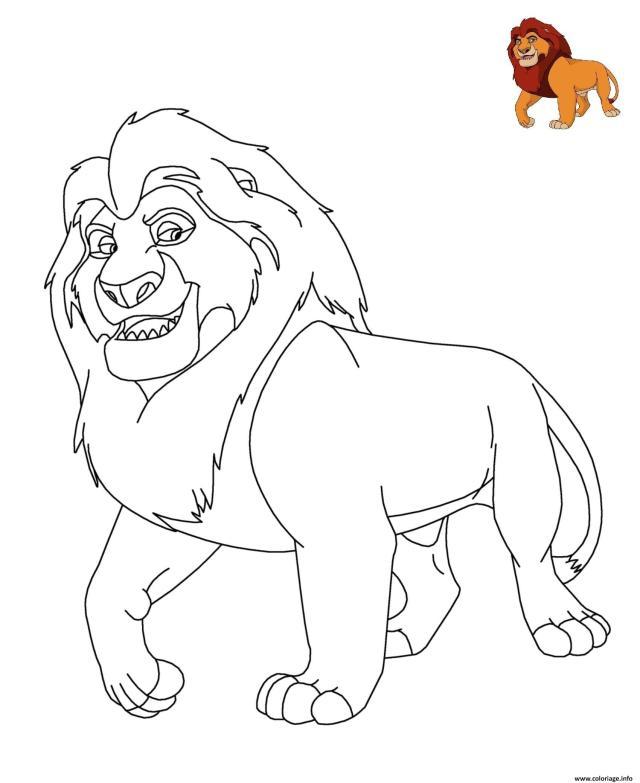 Coloriage Le Roi Lion Disney Dessin Roi Lion à imprimer