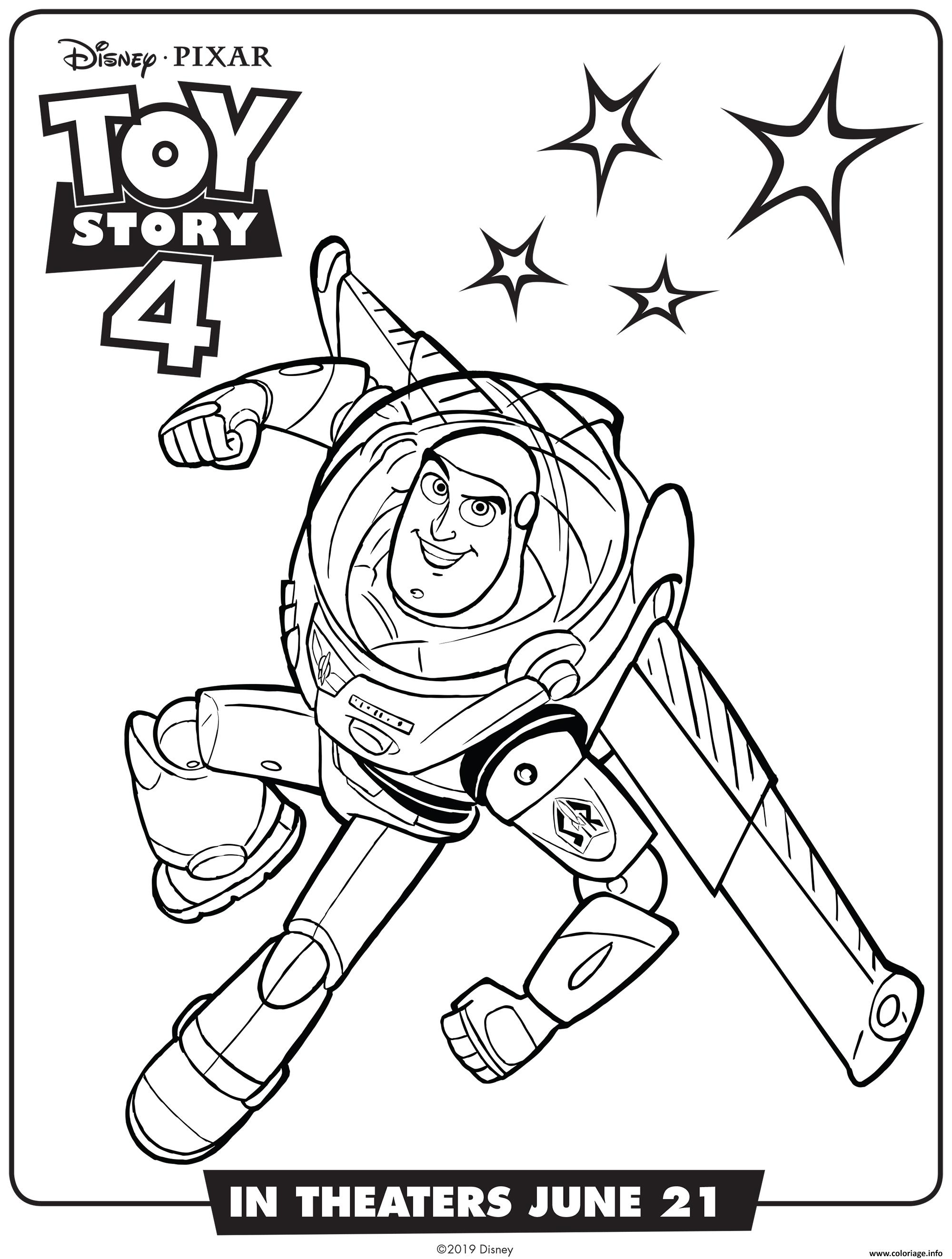 Coloriage Toy Story 4 Buzz Lightyear Dessin