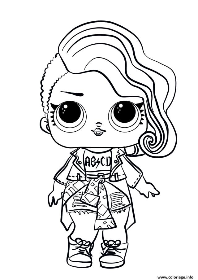 Coloriage Lol Surprise Doll Rocker Dessin Lol Surprise à imprimer