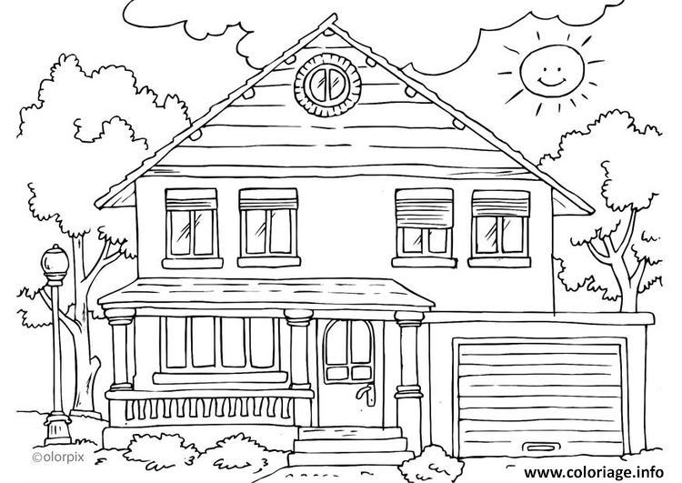 Coloriage Maison Exterieur Moderne Complex Dessin Maison A Imprimer