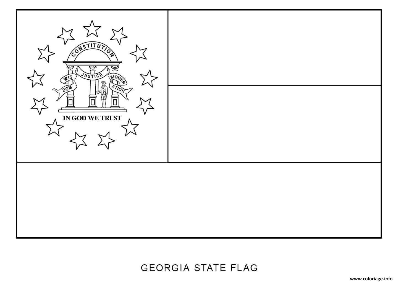 Coloriage D Au Of Georgia Etats Unis Dessin