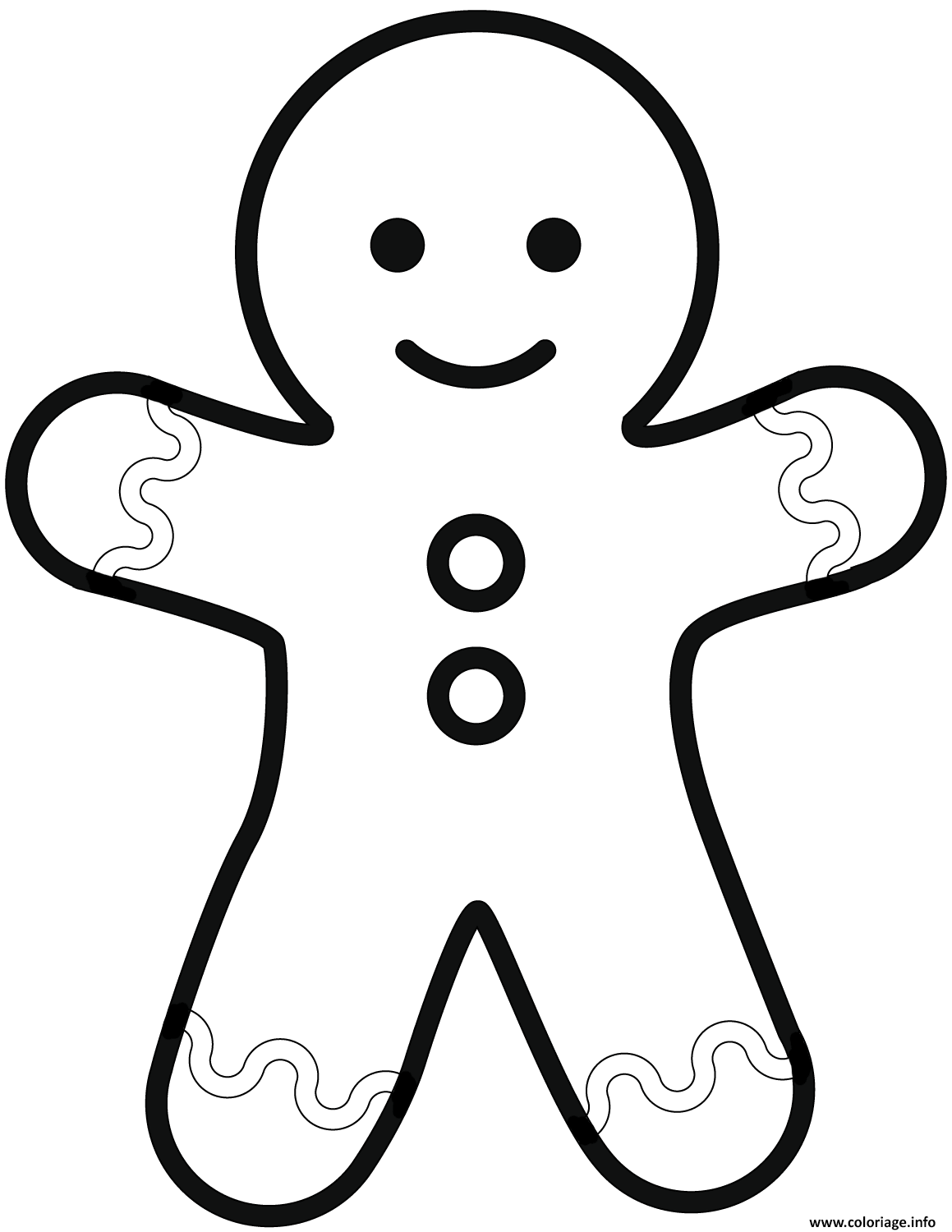 Coloriage Simple Gingerbread Man Dessin