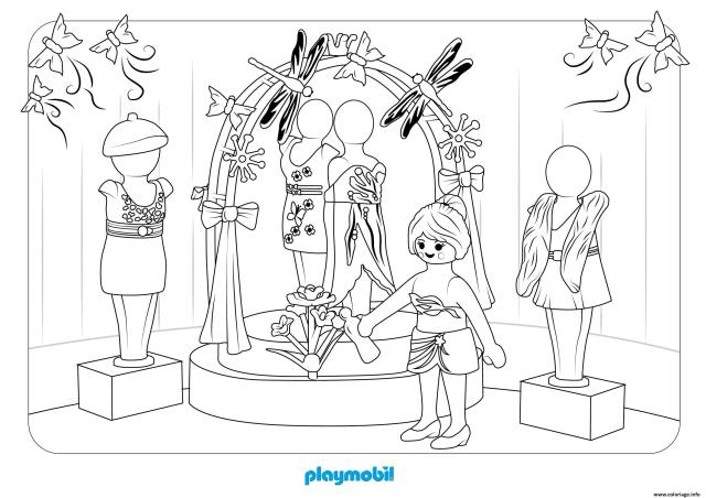 Coloriage Playmobil Le Grand Magasin Dessin Playmobil à imprimer