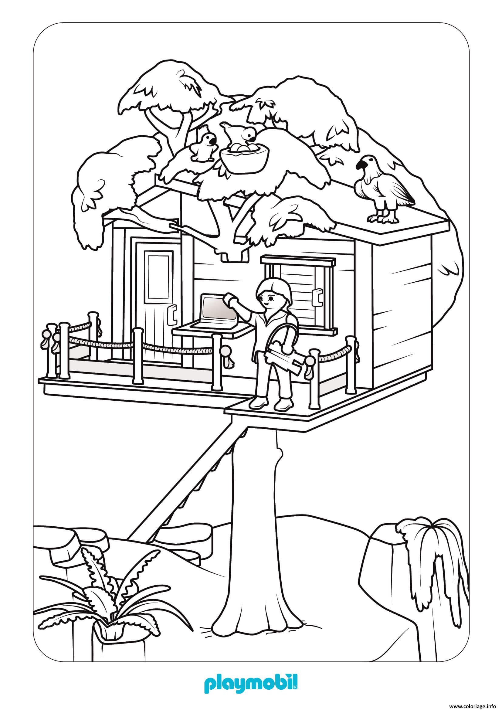 Coloriage Maison De Playmobil Dessin Playmobil A Imprimer