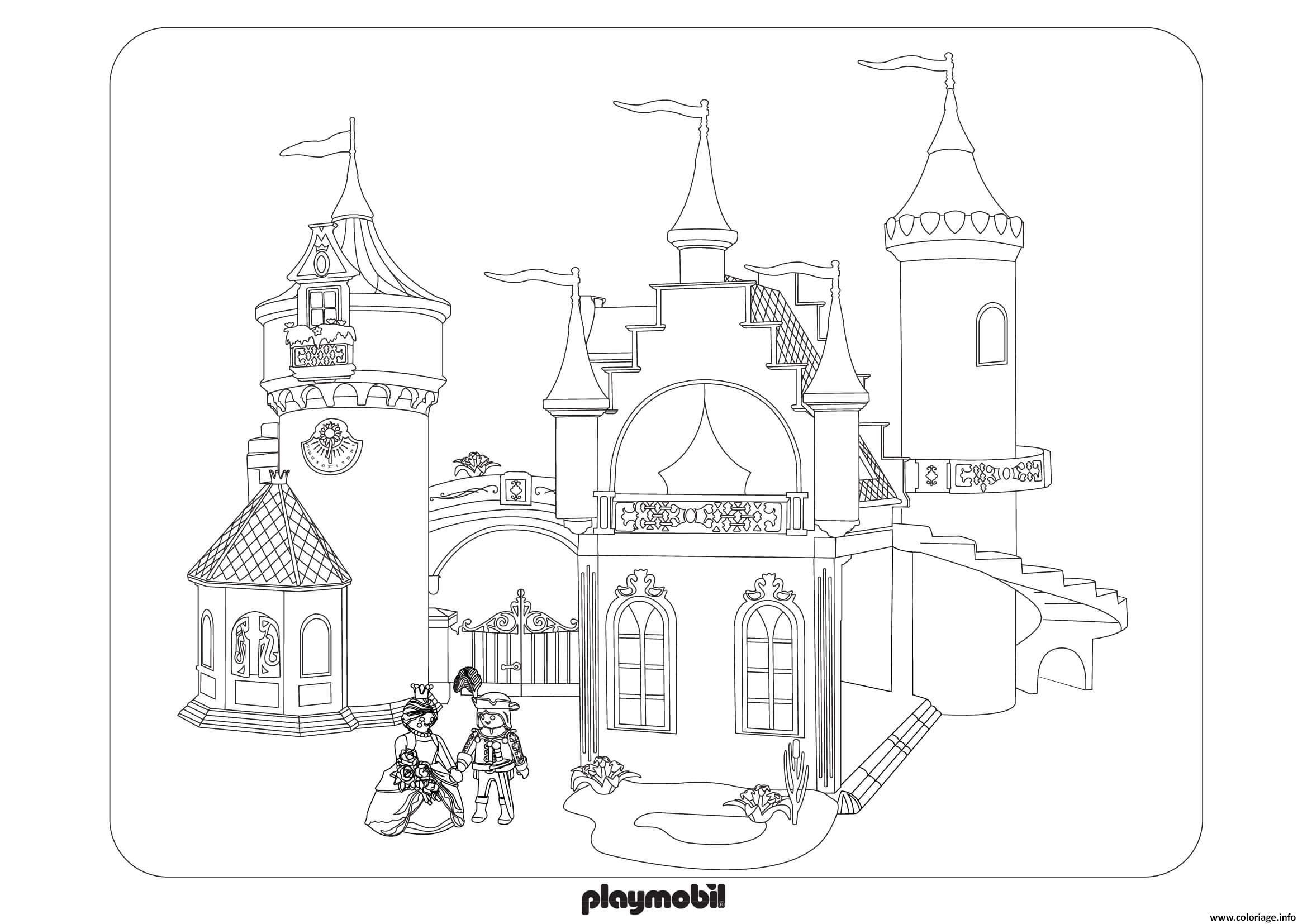 Coloriage Playmobil Palais De Princesses 3 Dessin Playmobil A Imprimer