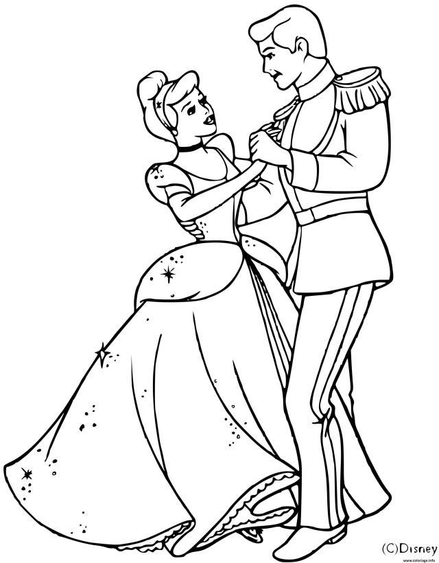 Coloriage Cendrillon Et Son Prince Charmant Dessin Cendrillon à