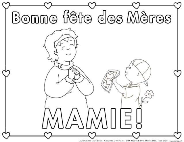 Coloriage Bonne Fete Des Grands Mere Mami De Carte De Souhaits