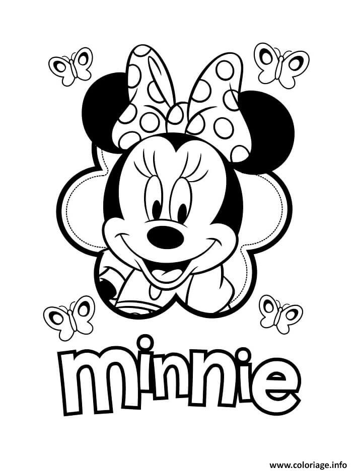 Coloriage Minnie Mouse Amoureuse De Mickey Dessin Minnie A Imprimer