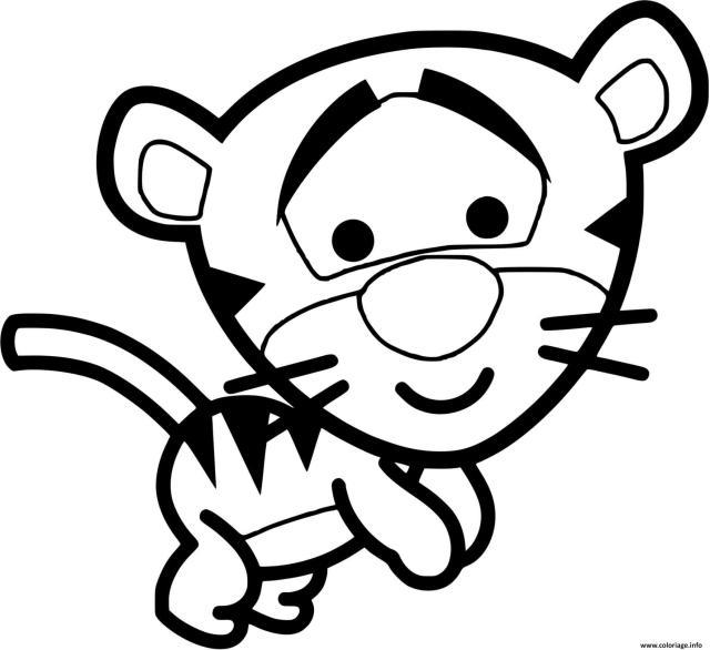 Coloriage Tigrou Veut Jouer Dessin Disney Bebe à imprimer