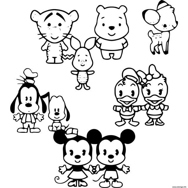 Coloriage Disney Cartoon Personnages Dessin Disney Bebe à imprimer