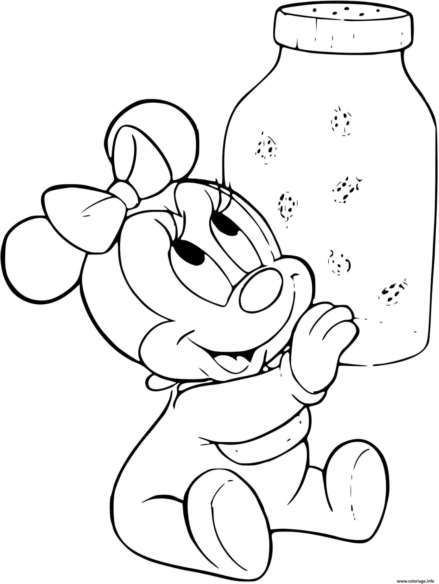 Coloriage Minnie Mouse Joue Jecolorie Com