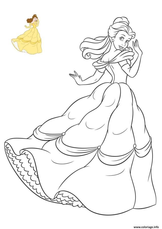 Coloriage La Belle Princesse Disney De France Dessin Princesse à