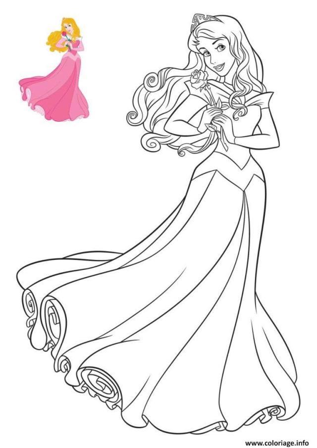 Coloriage La Belle Au Bois Dormant Dessin Princesse à imprimer